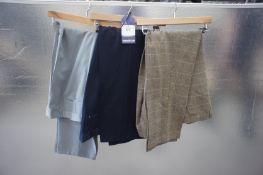 3 x Various designer formal trousers, 40W, 42W, 44