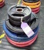 Assortment of Plates Including 2 x 5kg, 2 x 10kg, 2 x 20kg, 2 x 25kg