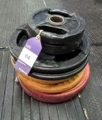 Assortment of Plates Including 2 x 5kg, 2 x 10kg, 2 x 15kg, 2 x 20kg