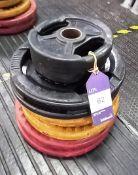Assortment of Plates Including 2 x 5kg, 2 x 10kg, 2 x 15kg, 2 x 25kg