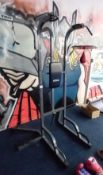 TKO Pull up and Abdominal Raise station with speed bag