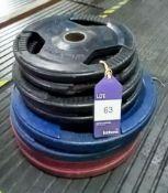 Assortment of Plates Including 2 x 5kg, 2 x 10kg, 4 x 20kg