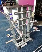 Weight Lifting Bar Rack with Various Bars