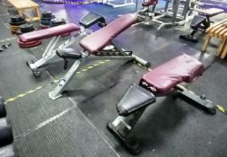 4x Various Adjustable Benches