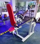 Unbranded Plate Loaded Seated Tricep Machine