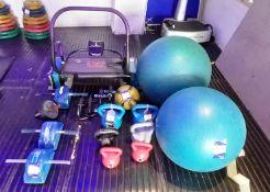 Assortment of Gym Equipment