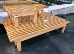 7x Various Sized Wooded Benches