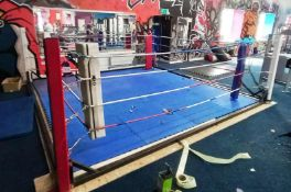 Approx. 4 x 4m Boxing Ring and Flooring