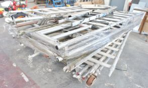 Qty of various Aluminium Mobile Scaffold Tower Components, to pallet