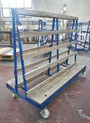 Mobile 'A' Frame Material Rack