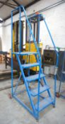 Steel Fabricated 5-Tread Warehouse Steps