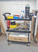 Mobile Tool Trolley with Contents