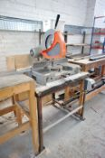 Elumatic MGS72 Mitre Saw, s/n 37554 with timber table