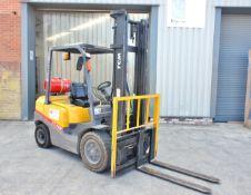 TCM FG30 LPG Forklift Truck, 3000kg capacity, side-shift, duplex mast, lift height 4000mm,