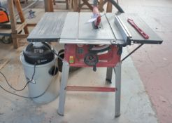 Einhell TC-TS2025 Table Saw with SIP 50Ltr Dust Collector, 240v