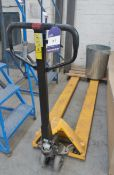 Hand Operated Long Tine Pallet Truck