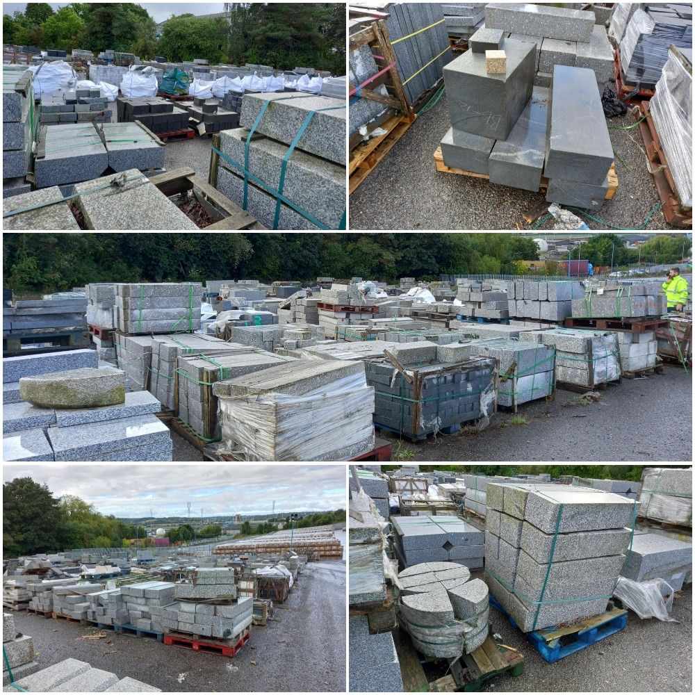 Approx 600 tonnes of granite and other natural stone products for hard landscaping, regeneration and architectural purposes