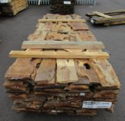 22 mm Yew wood natural edge boards