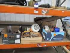 miscellaneouse items including metal plates, motor, handles, part ducting etc.