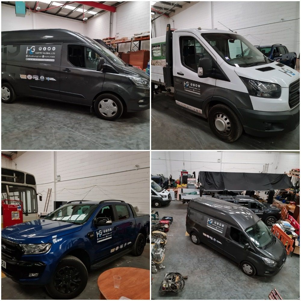Light Commercial Vehicles, Cesab Drago Forklift, Plant, Leyland National Single Deck Bus, Shetland Motorboat , Paving Blocks etc