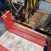 "LOT: (2 pcs) Forklift Forks, Class 2, 16"" x 42"" x 5"""
