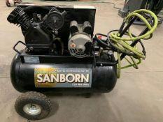 SANBORN Portable Compressor. Mod: SP 1682066, 1.6 HP, 20 gal.- 150 PSI