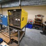 ESAB Welding Machine, mod: 600-1 (specs. via photo) c/w Steel Cart - AS-IS