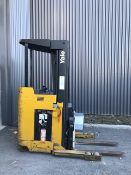 Yale Reach Lift, cap: 4,500lbs, 36 votls (NO Charger, Battery Functional but Weak) THIS LOT IS