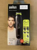 BRAUN ALL-IN-ONE TRIMMER 3 6 IN 1 STYLING KIT EASY FAST PRECISE
