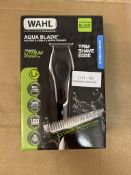 WAHL AQUA BLADE WET/DRY STUBBLE & BEARED TRIMMER TRIM SHAVE GO