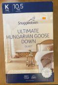 SNUGGLEDOWN ULTIMATE HUNGARIAN GOOSE DOWN DUVET KING