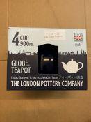 GLOBE TEAPOT 4 CUP 900ML THE LONDON POTTERY COMPANY