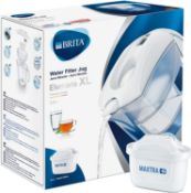 RRP £24 BRITA Elemaris XL water filter jug for reduction of chlorine, limescale and impuities, White