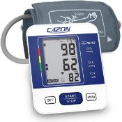 RRP £28 CAZON Blood Pressure Monitor Upper Arm Digital BP Machine for Home Use & Pulse Rate Detectio