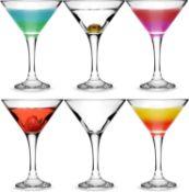 RRP £25 bar@drinkstuff Essence Martini Cocktail Glasses 175ml - Set of 6 - Gift Boxed Classic V Shap