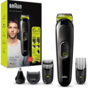 Braun 6-in-1 All-in-one Trimmer 3 MGK3221, Beard Trimmer for Men, Hair Clipper and Face Trimmer with