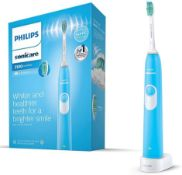 RRP £35 Philips Sonicare DailyClean 3100 Electric Toothbrush, Blue ProResults Brush Head (UK 2-Pin B