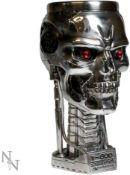 Nemesis Now Terminator Head Goblet 17cm Silver, Resin w/Stainless Steel Insert