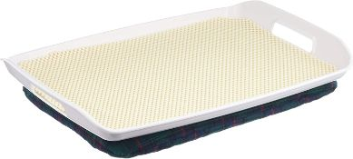 Homecraft Stay Tray with Bean Bag, Stable Lap Tray with Cushion, Non-Slip Mat for Plates and Cups, F