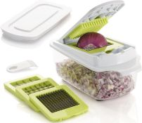 Brieftons QuickPush Food Chopper (BR-QP-02): Strongest & 200% More Container Capacity, 30% Heavier D