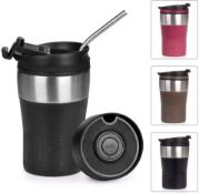 Opard Coffee Cup Double Walled Vacuum Insulated Stainless Steel with Leakproof Lid Coffee Travel Mug