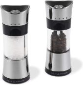 RRP £57-Cole & Mason Precision Horsham Inverta Salt and Pepper Mill Gift Set, Chrome, 15 cm