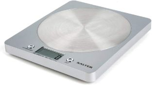 Salter Digital Kitchen Weighing Scales - Slim Design Electronic Cooking Appliance for Home / Kitchen