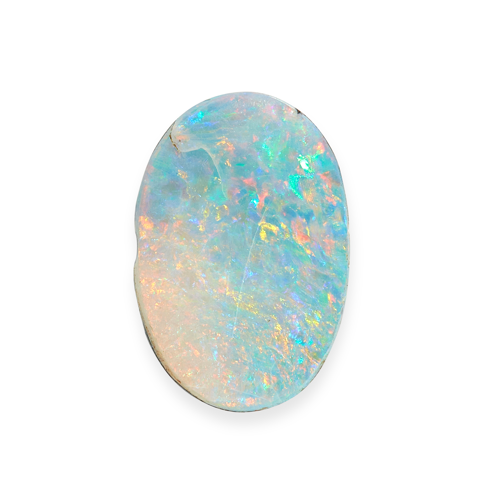 AN UNMOUNTED OPAL oval cabochon, 4.13 carats.