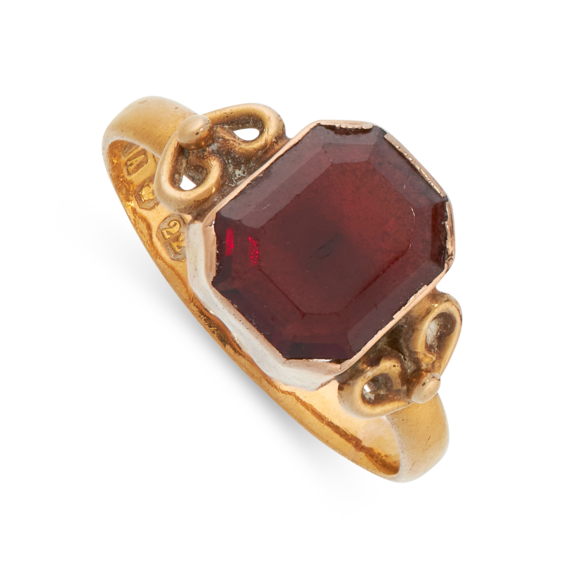 MIXED LOT OF TWO RINGS including an antique ruby and diamond ring, set with an old cut diamond - Image 2 of 2