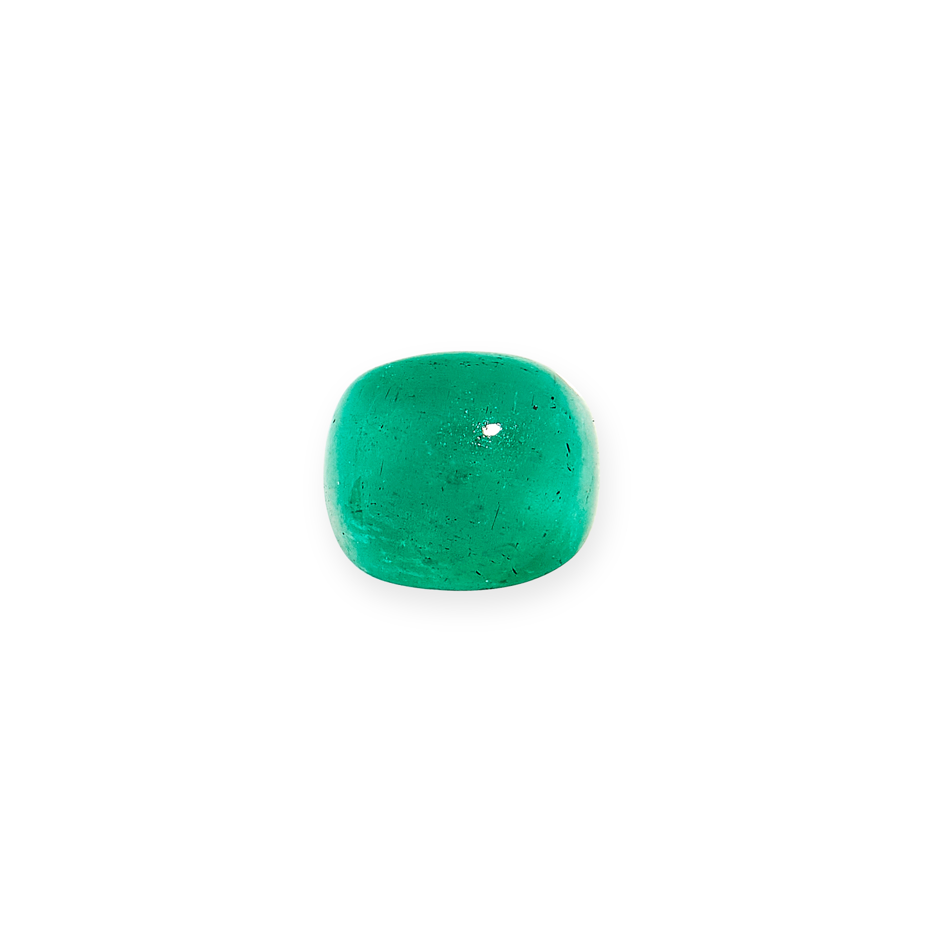 UNMOUNTED EMERALD of 1.49 carats, cabochon cut.