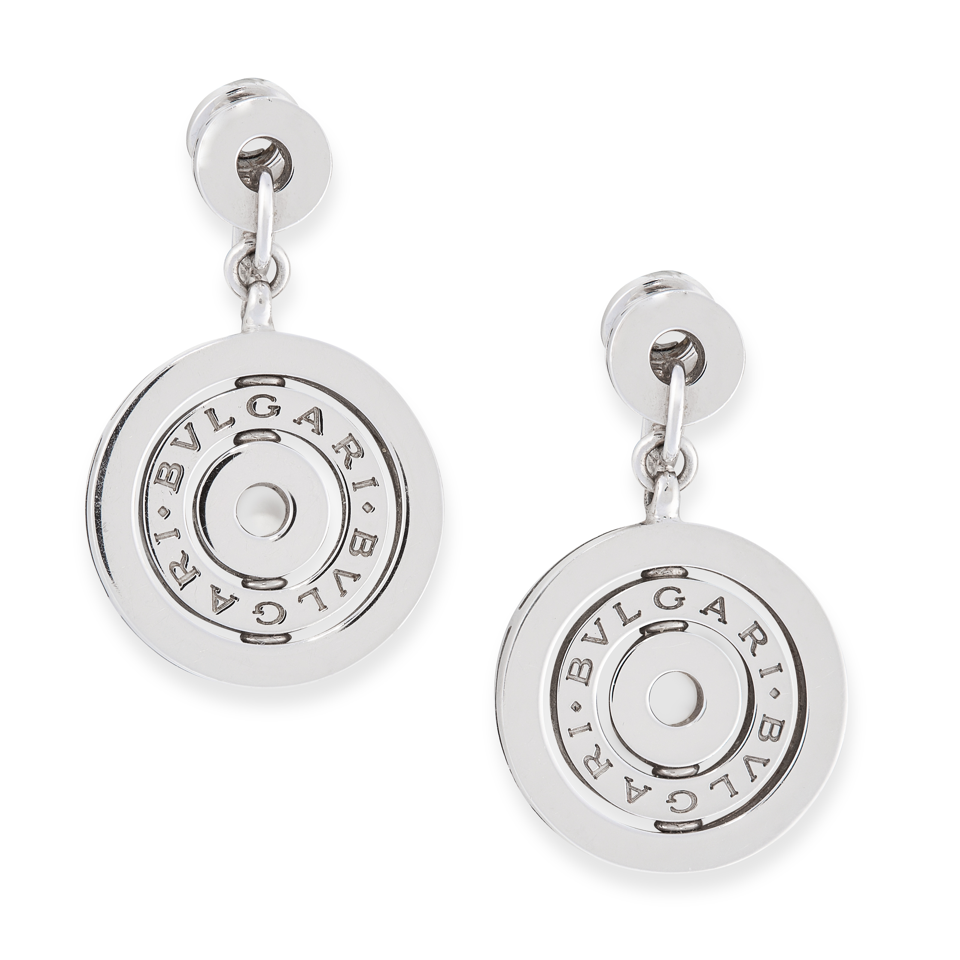 A PAIR OF ASTRAL CLIP EARRINGS, BULGARI in 18ct yellow gold, formed of concentric circles stamped