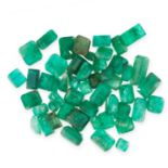MIXED LOT OF UNMOUNTED EMERALDS of various cuts, totalling 24.00 carats.