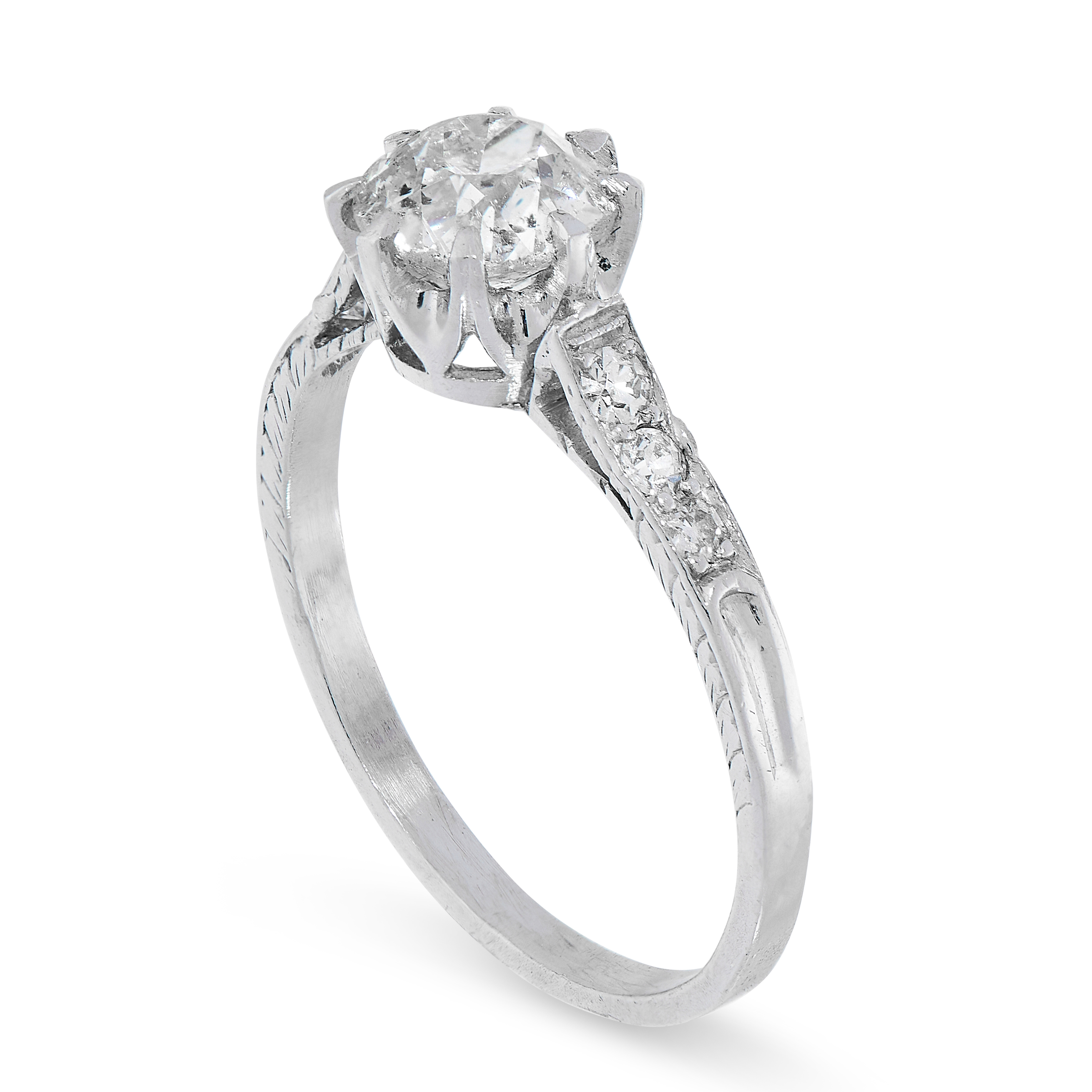SOLITAIRE DIAMOND RING comprising of an old cut diamond of 1.00 carats, with further single cut - Image 2 of 2