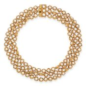 EXCEPTIONAL VINTAGE PEARL NECKLACE, CHARLES DE TEMPLE, CIRCA 1971 in 18ct yellow gold, comprising of